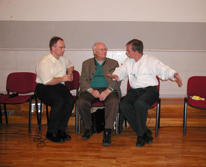 U diskusiji Vedran Kraljeta, Bert Hellinger, Vlado Ilić Beograd, Pedagoški fakultet-2005